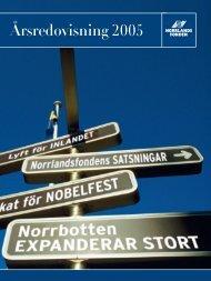 Årsredovisning 2005 - Norrlandsfonden