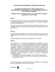 Reglement voor aansluitingen elektriciteit - laagspanning - Gaselwest