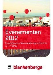 Evenementen 2012 - Sociaal huis Blankenberge
