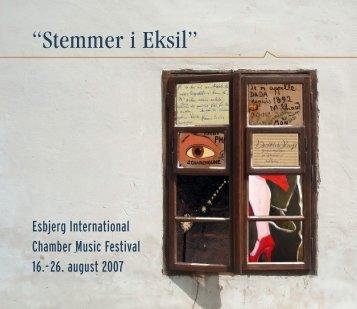 Se programmet for 2007 her - Esbjerg International Chamber Music ...
