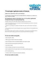 Trivselregler Igelboda skola & förskola
