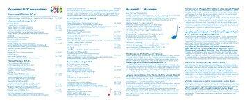 Konsertit/Konserter: Kurssit / Kurser - Kaustinen