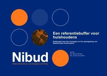 Een referentiebuffer voor huishoudens, onderzoek naar het ... - Nibud