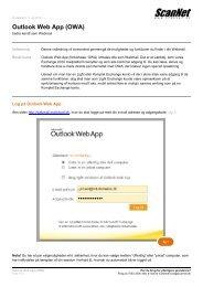 A/S ScanNet - Outlook Web App (OWA)