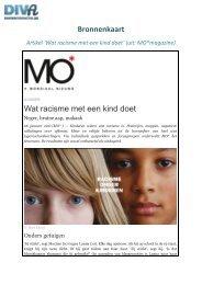 Bronnenkaart Wat racisme met een kind doet - Diversiteit in Actie