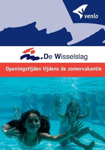 Openingstijden tijdens de zomervakantie - zwembad De Wisselslag