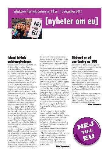 [nyheter om eu] Island införde valutaregleringar - Folkrörelsen Nej ...