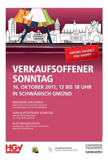 Verkaufsoffener Sonntag am 16 Oktober 2011 - Schwäbische Post