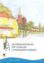 Tillgänglighetsplan - Nynäshamns kommun