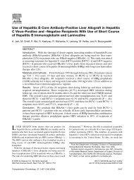 Use of Hepatitis B Core Antibody–Positive Liver Allograft in Hepatitis ...
