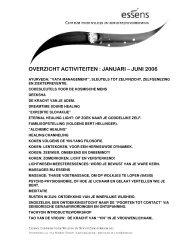OVERZICHT ACTIVITEITEN : JANUARI – JUNI 2006 - Essens