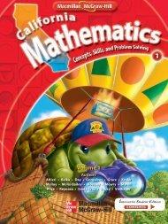 California Mathematics: Grade 1: Concepts, Skills, and Problem ...