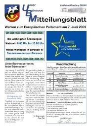 Wahlen zum Europäischen Parlament am 7. Juni 2009 - Gemeinde ...