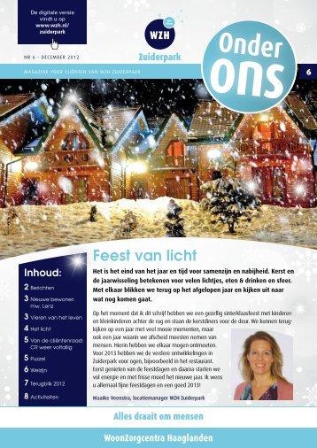 Onder ons, editie 6 - december 2012 - Wzh
