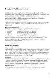 F-modul 1: Faglitteraturens genrer