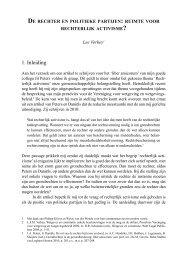 de rechter en politieke partijen: ruimte voor - Montesquieu Instituut