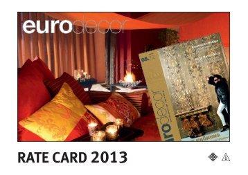 RATE CARD 2013 - MEININGER VERLAG GmbH
