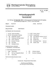 Protokoll 6/2011 - Marktgemeinde Strengberg