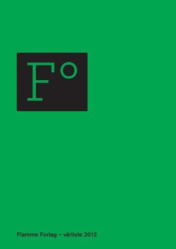 Flamme Forlag – vårliste 2012