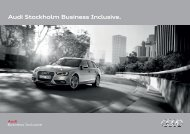 Audi Stockholm Business Inclusive.