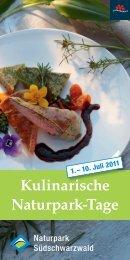 Kulinarische Naturpark-Tage