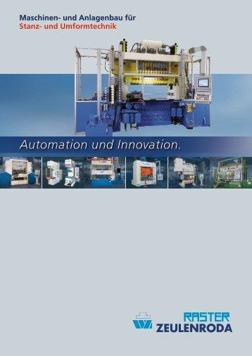 und Anlagenbau für Stanz- und Umformtechnik - Raster Zeulenroda