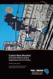 Cuba's New Resolve - Center for Democracy in the Americas