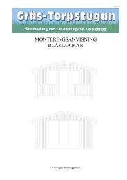 Monteringsanvisning Blåklockan - Grästorpstugan