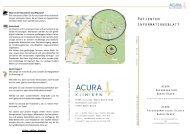 Informationsbroschüre für Patienten - Acura Akut - ACURA Kliniken