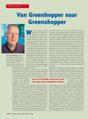 Van Greenhopper naar Greenshopper - Jacob van Kokswijk