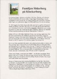 Klockarborg och familjen Söderberg