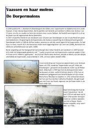 De Dorpermolens - Museum Vaassen Historie