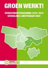 Verkiezingsprogramma GroenLinks Amsterdam Oost 2010-2014