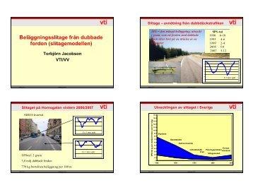 Dagens situation: Dubbdäck (VTI:s slitagemodell) (pdf ... - Asfaltskolan