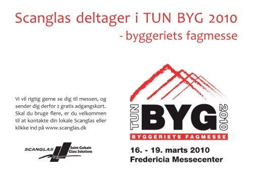 Scanglas deltager i TUN BYG 2010