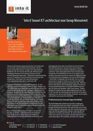 'into it' bouwt ICT-architectuur voor Group Monument