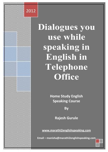 to download English Speaking Dialogues In Telephone Office Part 1 ...
