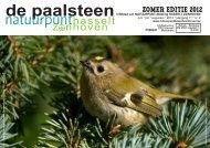 De Paalsteen - Jg. 11 nr. 2 - zomereditie 2012 - Natuurpunt Hasselt ...