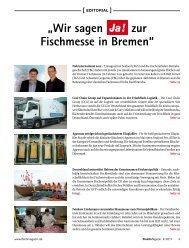 """""""Wir sagen zur Fischmesse in Bremen"""" - beim SN-Fachpresse Verlag"""