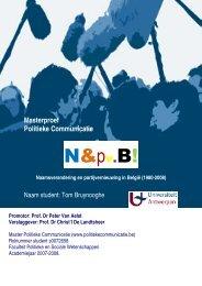 Tom Bruynooghe N&pv.B! - Master Politieke Communicatie