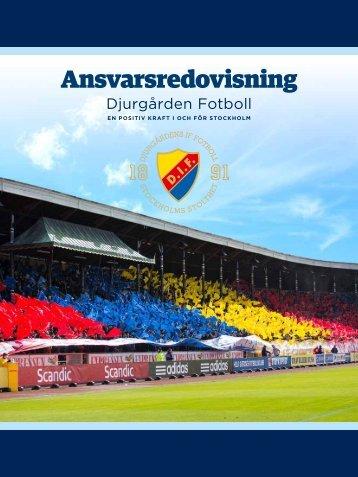 Ansvarsredovisning - Djurgården Fotboll