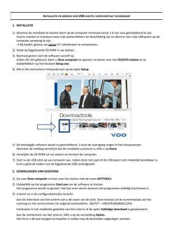 Handleiding installatie en gebruik USB-stick digitale tachograaf