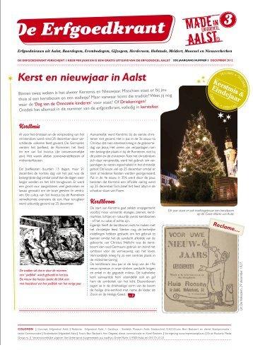 Lees hier De Erfgoedkrant nr. 3 (december 2012). - Erfgoedcel Aalst