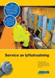 Läs mer om vår service (pdf) - Lyftsystem Kamab AB
