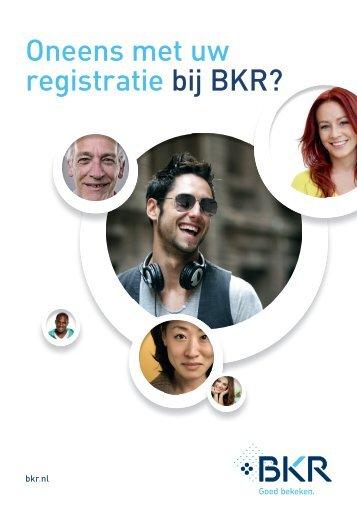 Oneens met uw registratie bij BKR?