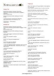 Program 7-14 juli 2013 - Nybyggarveckan