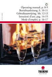Operating manual, p. 8-9 Betriebsanleitung, S. 10-11 ... - Tulikivi