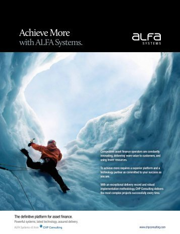 ALFA Systems Brochure - CHP Consulting
