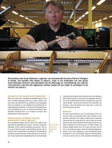 Interview Huub Dijkmans - Acustica Piano & Vleugels