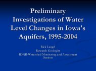Preliminary Investigations of Water Level Changes in Iowa's ...